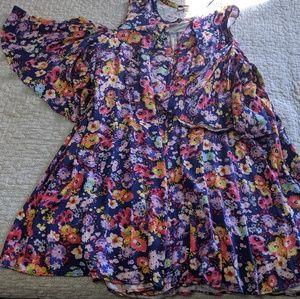 Floral blue Umgee Plus Dress
